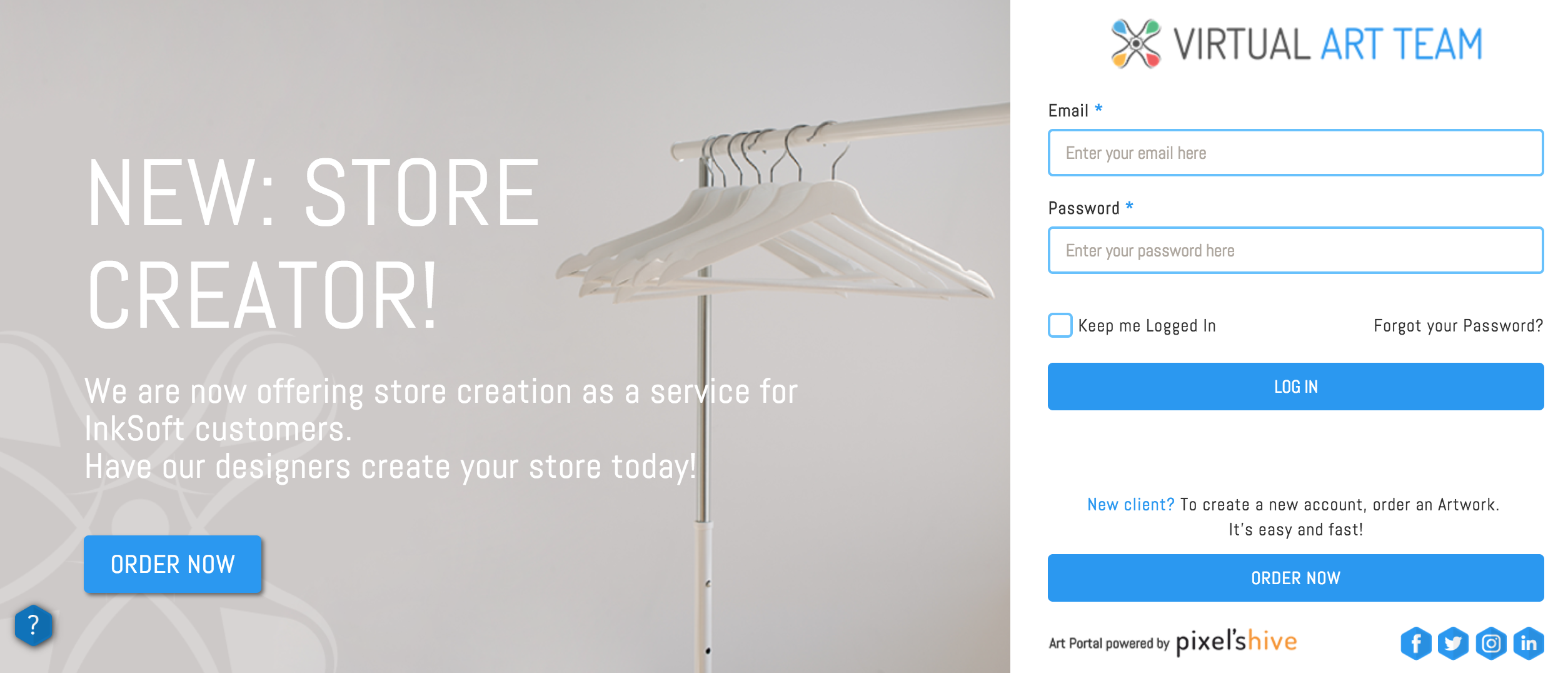 Inksoft Virtual Art Team: Store Creator